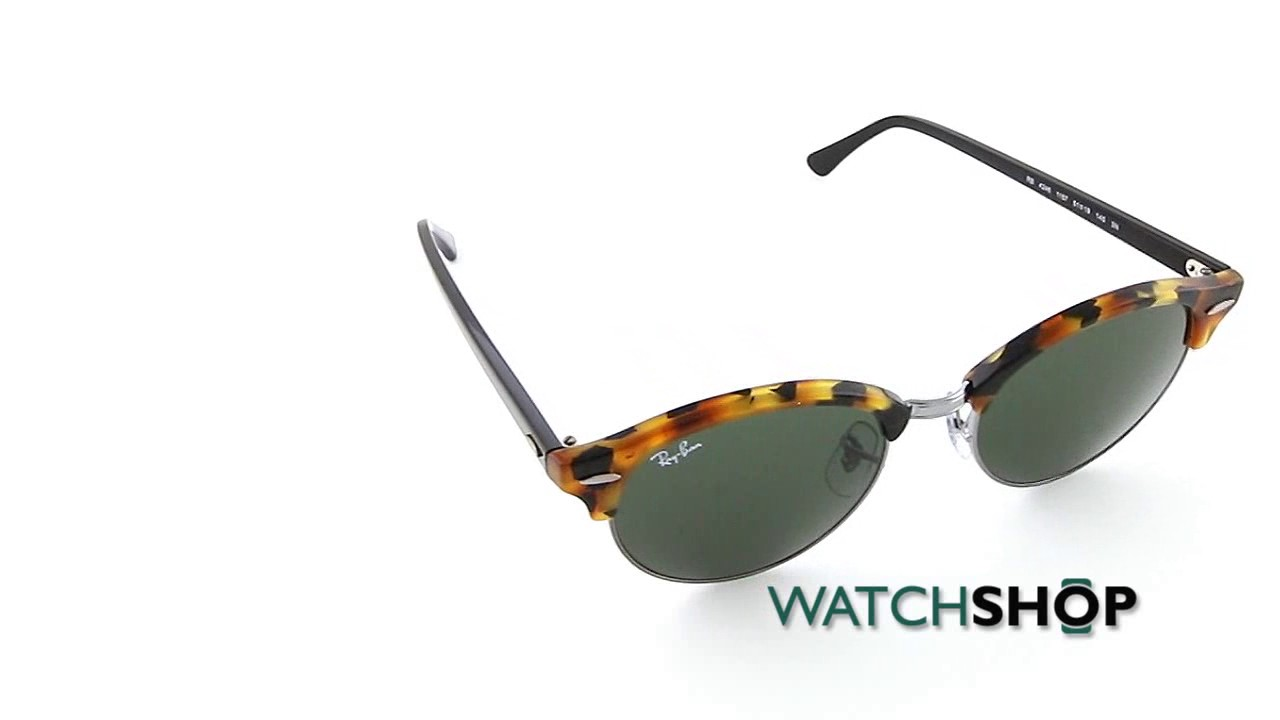 cd28ee2db9b Ray-Ban Clubround Sunglasses (RB4246-1157-51) - YouTube