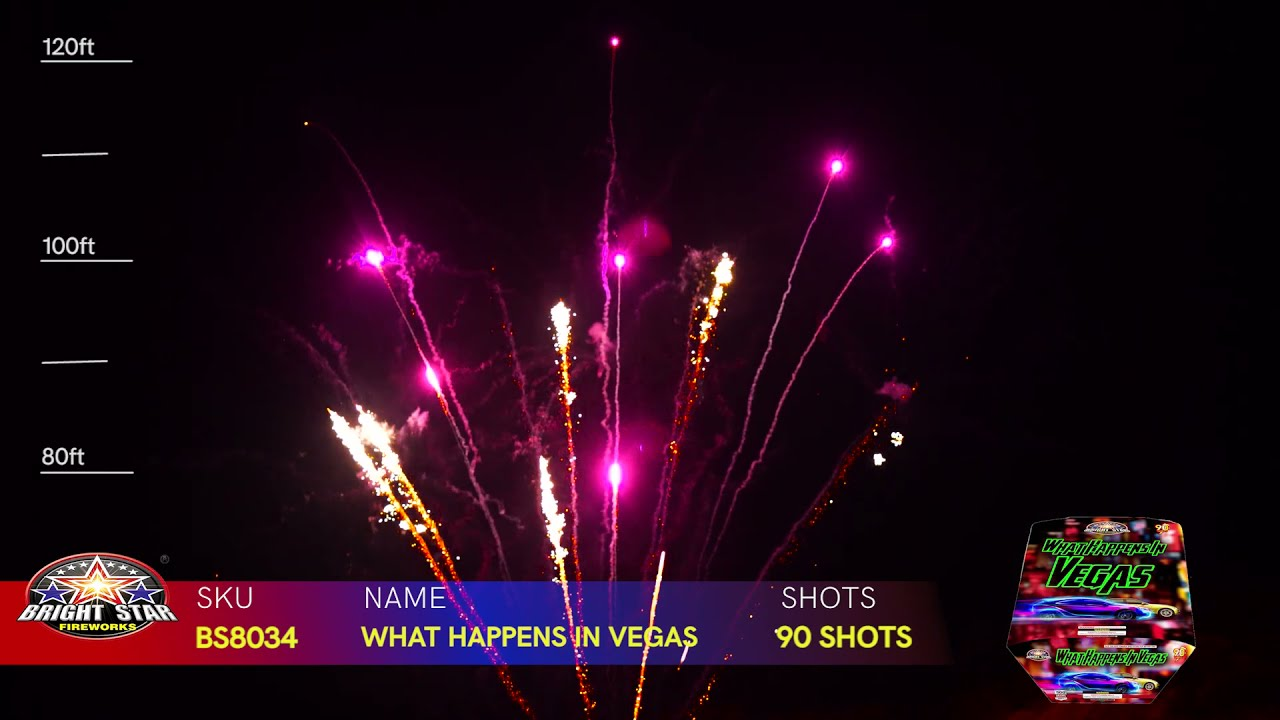 WHAT HAPPENS IN VEGAS BS8034 BRIGHT STAR FIREWORKS 2022 NEW ITEMS