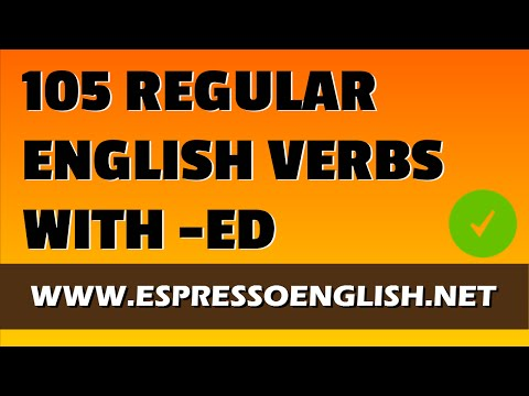105 Regular English Verbs with -ED in the Past: Pronunciation Practice