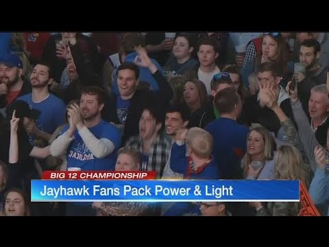 Fans pack Power & Light after Jayhawks' victory in Big 12 Tournament