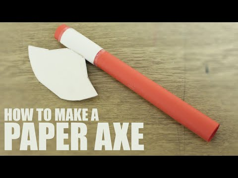 How to make a paper axe - Paper Battle Axe