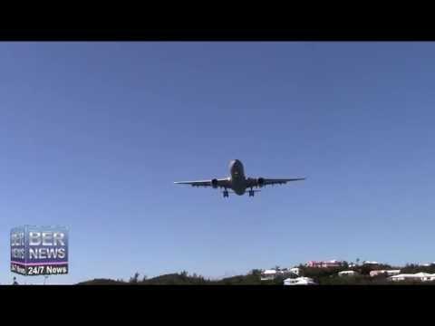 RAF Military Aircraft Landing In Bermuda, February 9 2015