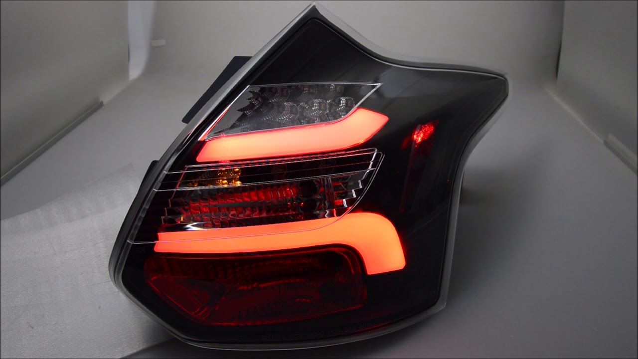 sw celi led taillights for ford focus mk3 cb8 dyb 11 15 5door hatchback lightbar black sw tuning