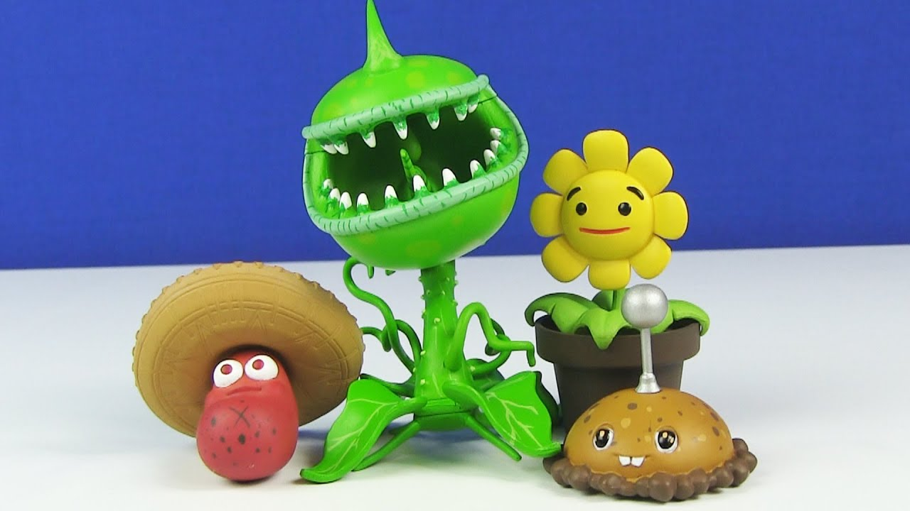 Plants Vs Zombies Garden Warfare Toxic Chomper Plants Accesory Pack Toy Review Youtube