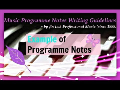 Example of Programme Notes