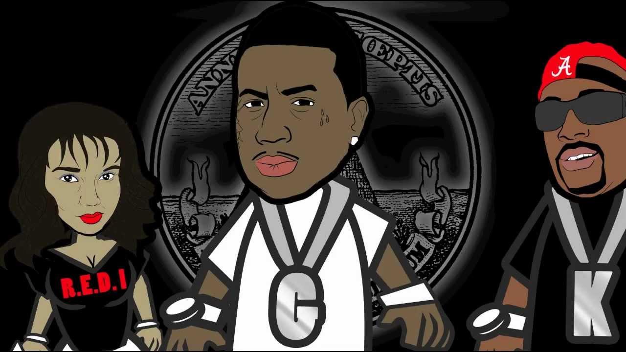 KDIGGA Ft. GUCCI MANE. STREET NIGGA SHIT Official Cartoon