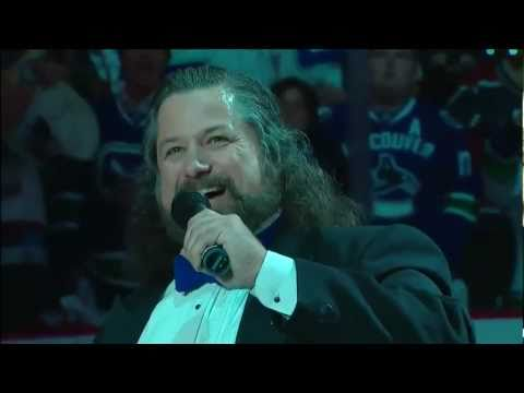 Mark Donnelly performs Canadian Anthem prior to Game 7 6/15/11