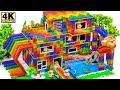 - Build Millionaire Mansion Has Waterslide Swimming pools for Turtle And Hamster Form Magnetic Balls