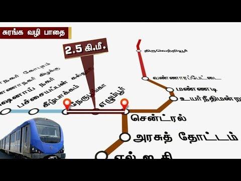 இரண்டு மெட்ரோ வழித்தடங்களில் ஆய்வு... | Inspection done on Two Metro lines in Chennai | #Metro