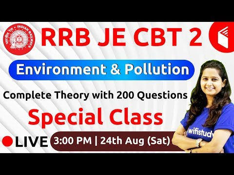 RRB JE 2019 (CBT-2) | Environment & Pollution by Shipra Ma'am | Complete Theory with 200 Qus.