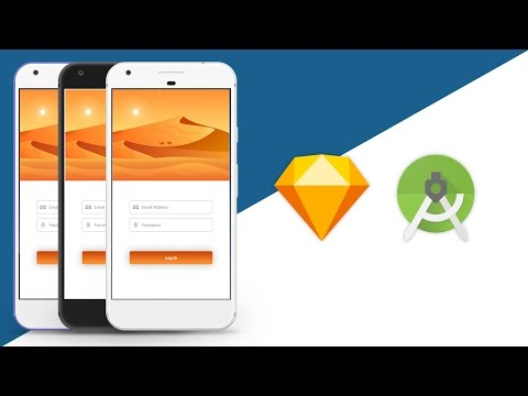 Login - Photoshop UI Design to Android Studio XML Tutorial