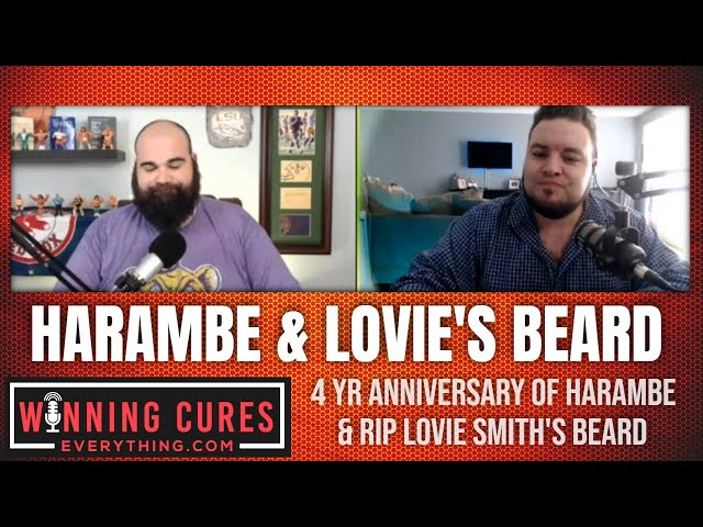 4 year anniversary of Harambe's death & RIP Lovie Smith's beard