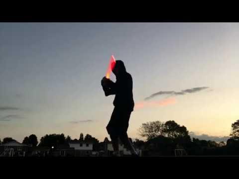 Light Saber Jedi Flow Practice Amidst Sunset