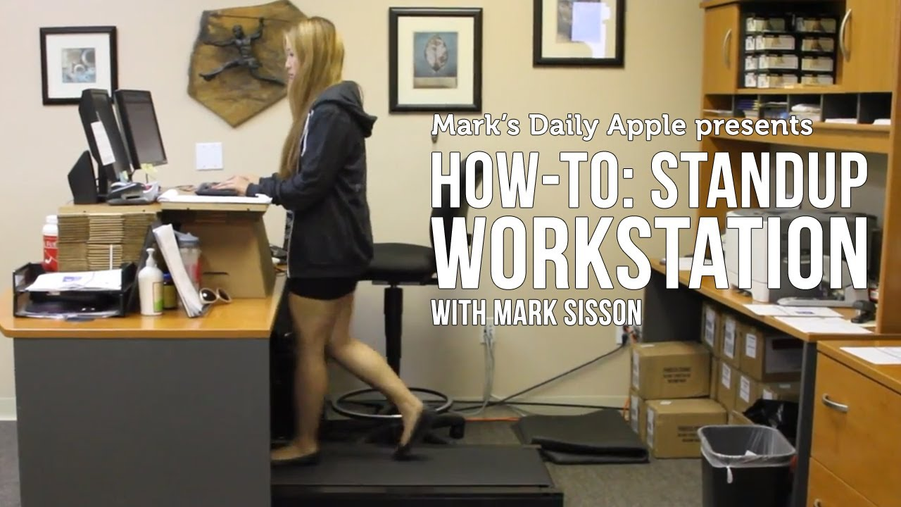 How to standup workstation with mark sisson youtube for Standing desk at home
