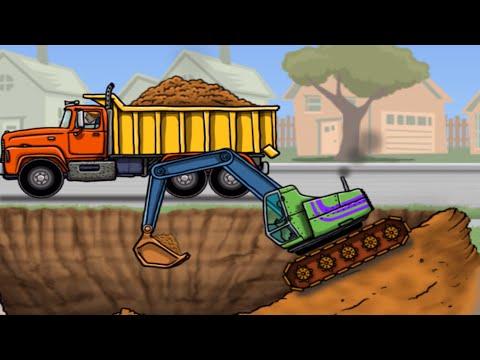 รวมเกมส์ รถแม็คโคร รถบรรทุก รถตักดิน รถดั้ม | Trucks & Diggers