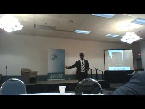 ABDULSALAM MOHAMMED DAARU DELIVERS KEY NOTE ON PPF PROJECT AT CLEVELAND STATE UNIVERSITY