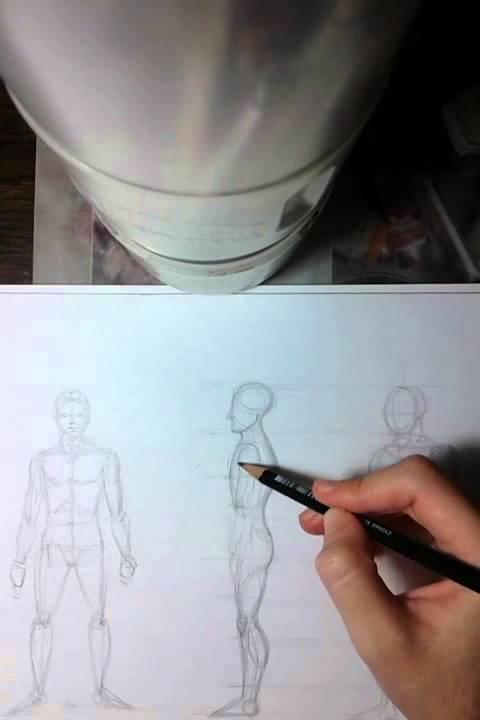 Como dibujar figura humana FACIL  PARTE 2 perfil y medio perfil