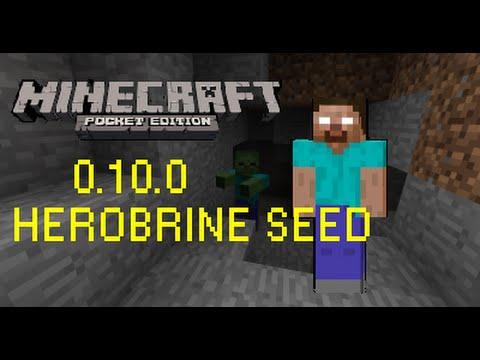 [MCPE 0.10.0+] HEROBRINE SEED ! SPAWN IN A CAVE !! **READ ...