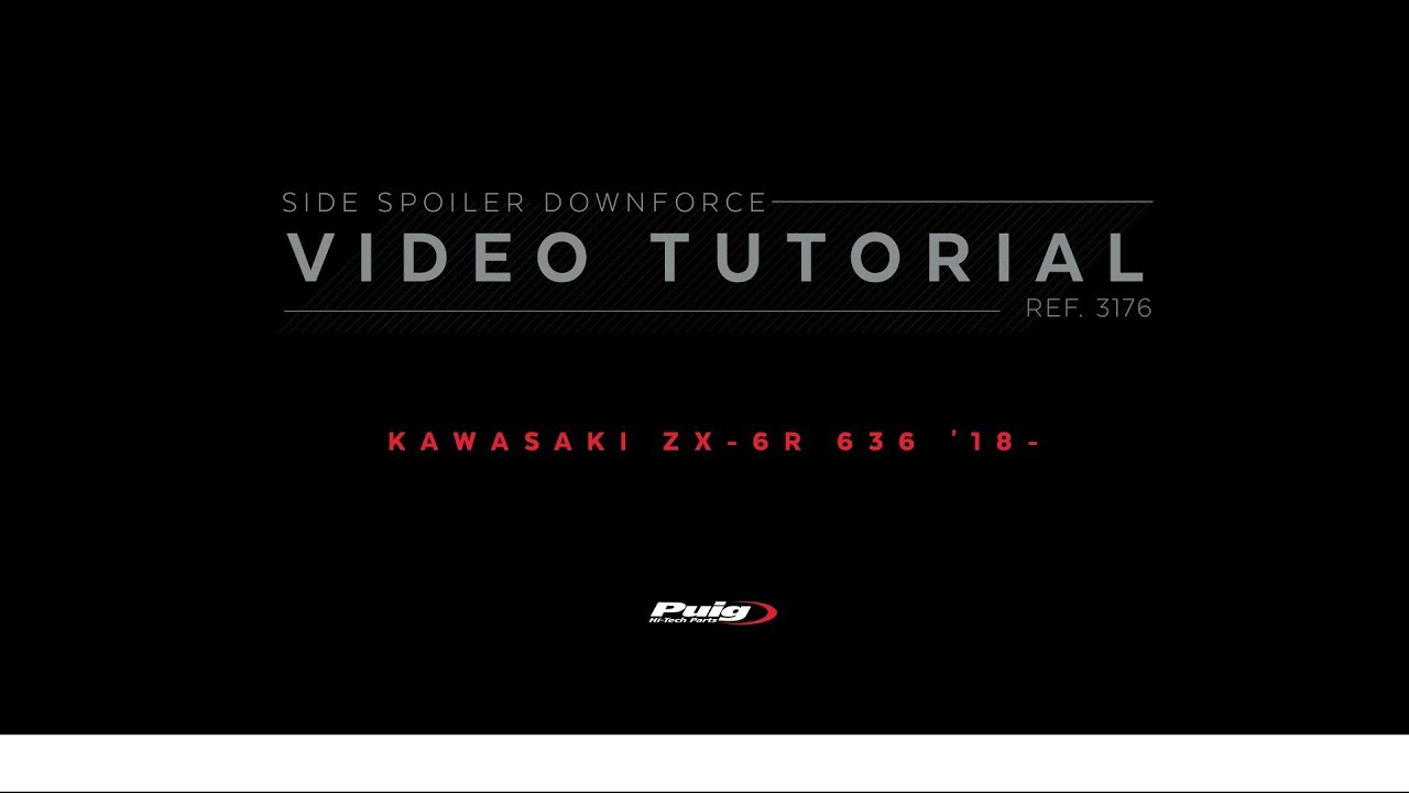 PUIG Spoiler Laterale Downforce Kawasaki ZX-6R 636 19 Rojo