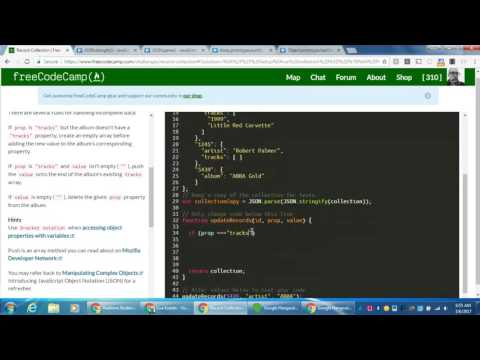 freeCodeCamp | Advanced Algorithm Scripting | Record Collection