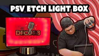 Vinyl Expert Makes An Etched Glass Light Box With Only PSV?! - Craftin' With Patrick