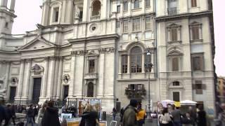 видео бернини фонтан четырех рек