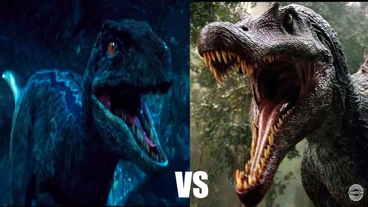 Spinosaurus vs Velociraptors (HD) - YouTube