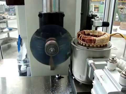 Tonsfer macchina di taglio statori cutting machine for the for Electric motor recycling machine