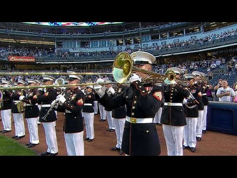 TB@NYY: National anthem at Yankee Stadium on Sept. 11