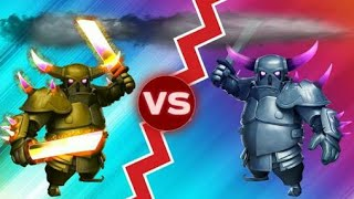 Super Pekka Vs Pekka | 1 Vs 1 Insane Battle | COC Private Server | Clash Of Clans 2017