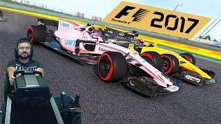 Гран-при Китая F1 2017 полный уик-энд - Force India F1 - руль Fanatec ClubSport Formula Black
