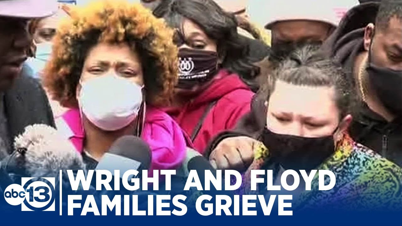 Daunte Wright and George Floyd's families share in their grief in 1st appearance together