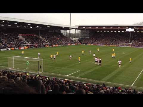 Alan Judge free kick vs Fulham. Fulham Vs Brentford 1-4