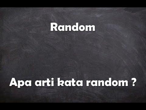 Apa arti kata random ?