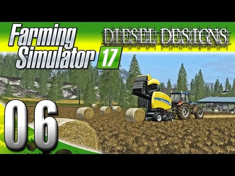 Farming Simulator 2017 Gameplay :EP6: Bailing Hay and Making