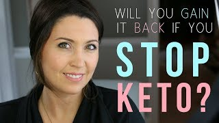 What Happens If You QUIT Keto? Will You Regain The Weight? | Ashley Salvatori
