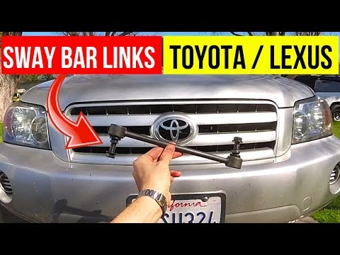 How To Replace Sway Bar Link Toyota or Lexus -Jonny DIY