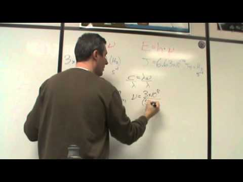 Chemistry calculating light energy/wavelength/frequency
