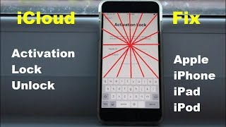 Disabled Apple Id Icloud Activation Lock Unlock Iphoneipadipod 2019 Successful✔