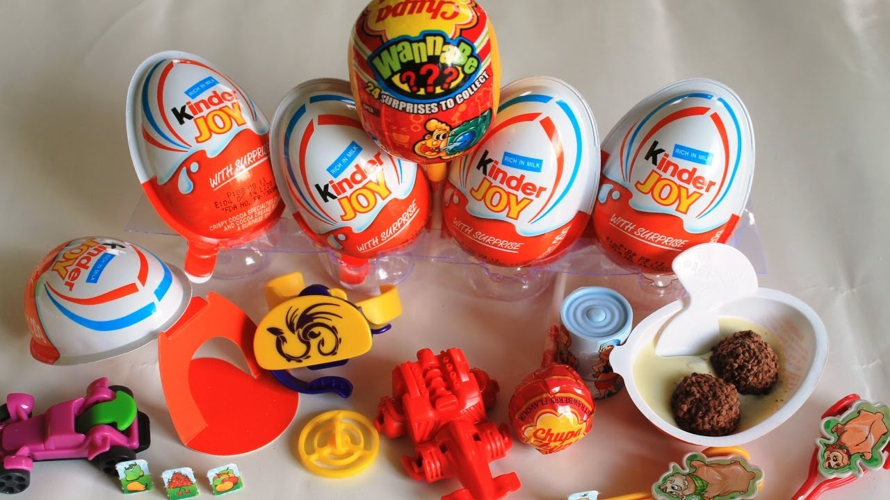Surprise Eggs Kinder Joy Cars Chocolate Milk Chupa Chups Chupa Surprise #3