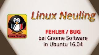 Fehler beim installieren von deb im Gnome Software in Ubuntu 16 04