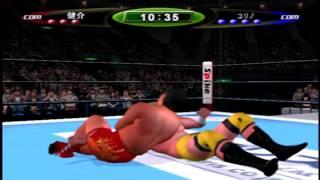PS2のキングオブコロシアムⅡを使用しCOM VS COMでシングルマッチを行っ...