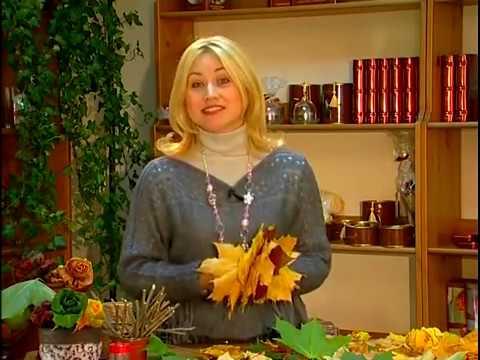 Топиарий из осенних листьев своими руками мастер класс из листьев