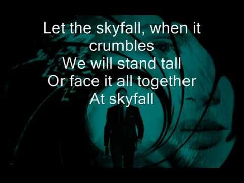 Adele  Skyfall Lyrics on screen