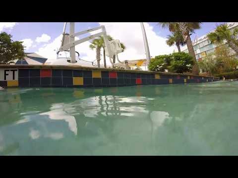 Floating Along the Cabana Bay Lazy River