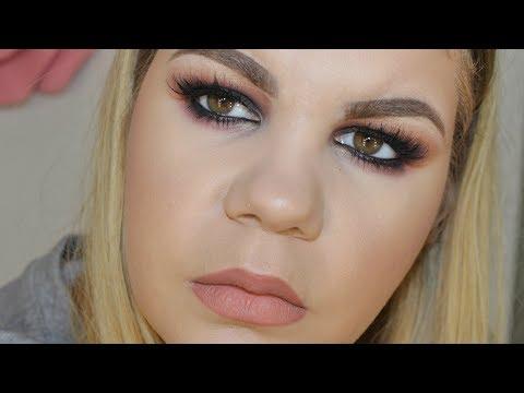 HUDA BEAUTY Rose Gold palette | Smokey eyes 💄