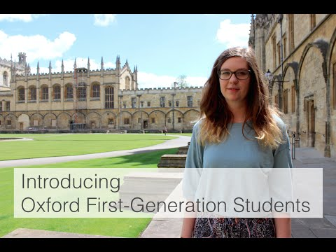 Introducing Oxford First-Generation Students
