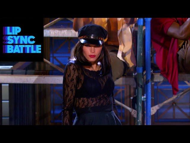 "Jenna Dewan-Tatum & Paula Abdul\'s \""Cold Hearted\"" vs. Channing Tatum\'s \""Let It Go\"" | Lip Sync Battle"