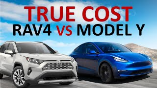 Tesla Model Y vs RAV4 Hybrid: Lowest Cost of Ownership in 5 & 10 Years? + Cost Per Mile Comparison