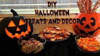 DIY CHEAP AND EASY Halloween Treats & Decor